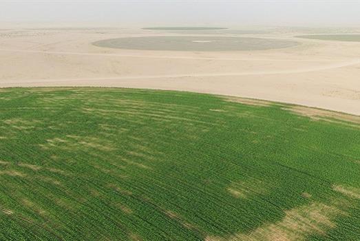 A drone on crop resources
