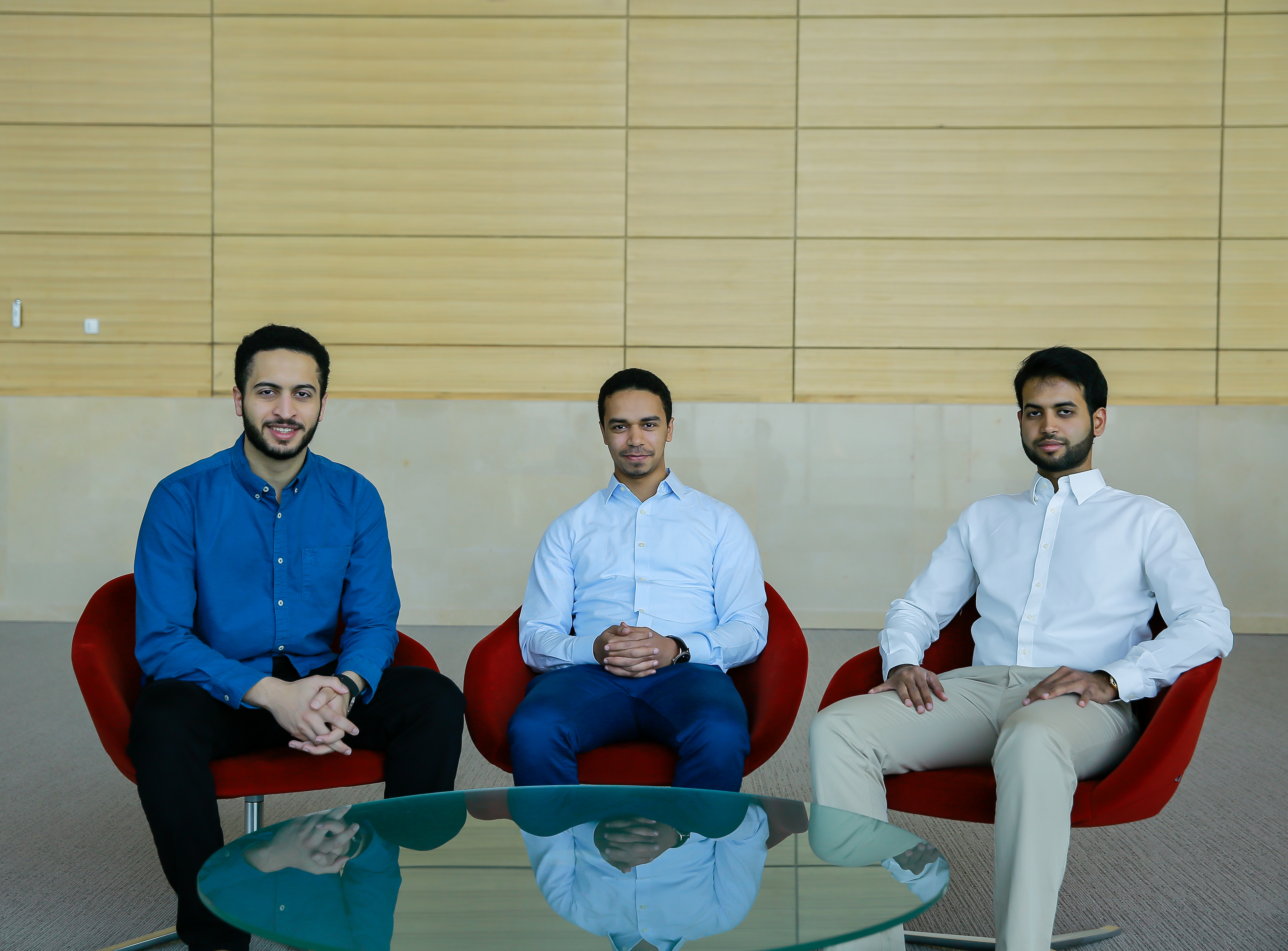 Al maha systems provides an iot livestock health tracking system for from left to right suhaib amer and faisal alhindi and hamzah alahmadi m4hsunfo